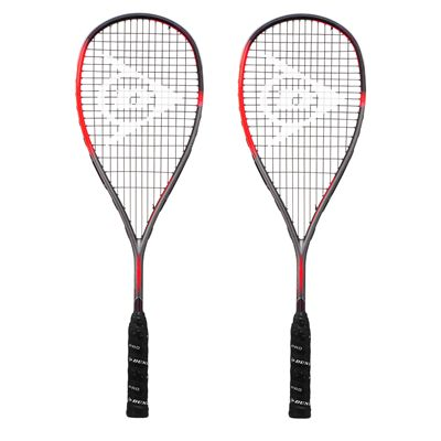 Dunlop Hyperfibre XT Revelation Pro Squash Racket Double Pack