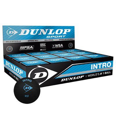 Dunlop Intro Squash Balls - 1 Dozen