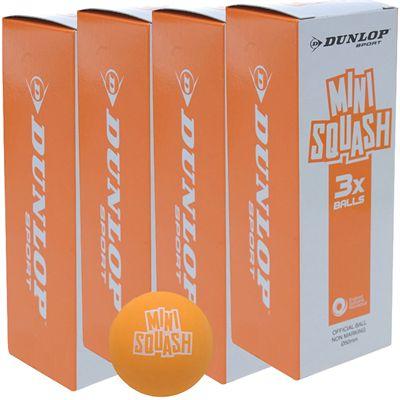Dunlop Play Mini Squash Balls-1 Dozen