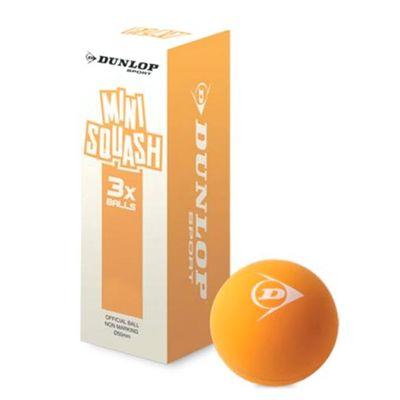 Dunlop Play Mini Squash Balls - Pack of 3 2018