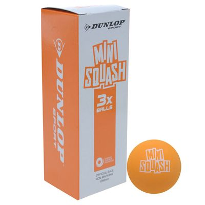 Dunlop Play Mini Squash Balls - Pack of 3
