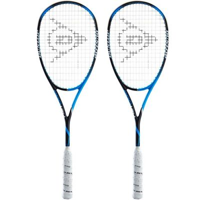 Dunlop Precision Pro 130 Squash Racket Double Pack AW18