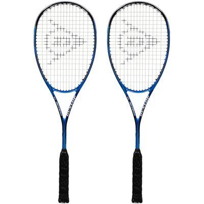 Dunlop Precision Pro 130 Squash Racket Double Pack