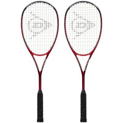 Dunlop Precision Pro 140 Squash Racket Double Pack