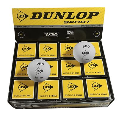 Dunlop Pro Squash Balls - 1 dozen 2020