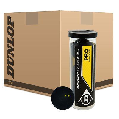 Dunlop Pro Squash Balls - 24 x 3