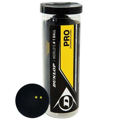 Dunlop Pro Squash Balls - Tube of 3
