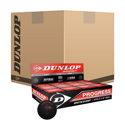 Dunlop Progress Squash Balls 6 dozen