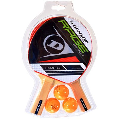 Dunlop Rage Match 2 Player Table Tennis Bat Set