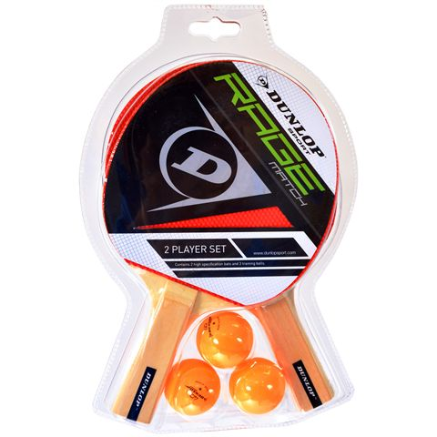 Dunlop Rage Match Two Player Table Tennis Bat Set
