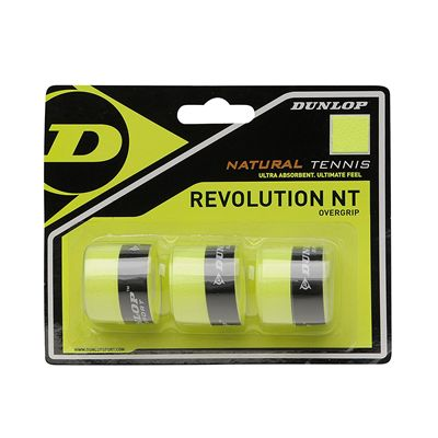 Dunlop Revolution NT Overgrip - Pack of 3 - Black - Yellow