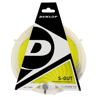 Dunlop S-Gut 1.30mm Tennis String Set White