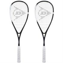 Dunlop Sonic Core Evolution 130 Squash Racket Double Pack