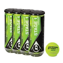 Dunlop Stage 1 Green Mini Tennis Balls - 1 Dozen