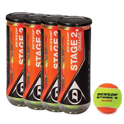 Dunlop Stage 2 Orange Mini Tennis Balls - 1 Dozen