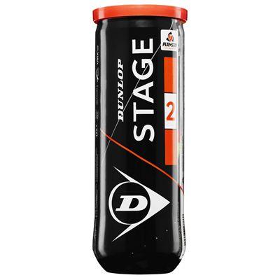 Dunlop Stage 2 Orange Mini Tennis Balls - Tube of 3 2019