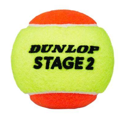 Dunlop Stage 2 Orange Mini Tennis Balls - Tube of 3 - Ball