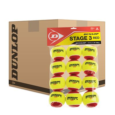 Dunlop Stage 3 Red Mini Tennis Balls - 5 Dozen