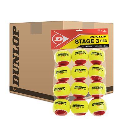 Dunlop Stage 3 Red Mini Tennis Balls - 5 Dozen
