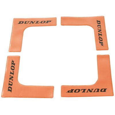 Dunlop Throw Down Court Edges - 16 Pack - Orange Colour