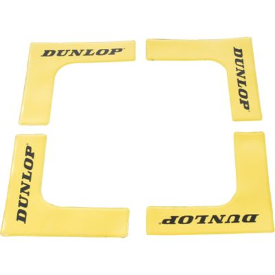 Dunlop Throw Down Court Edges - 8 Pack - Yellow Colour