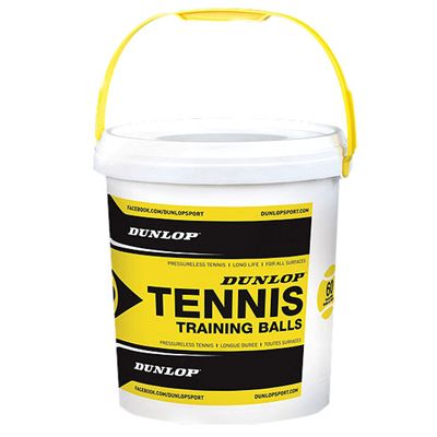 Dunlop Training Tennis Balls (60 Ball Bucket)