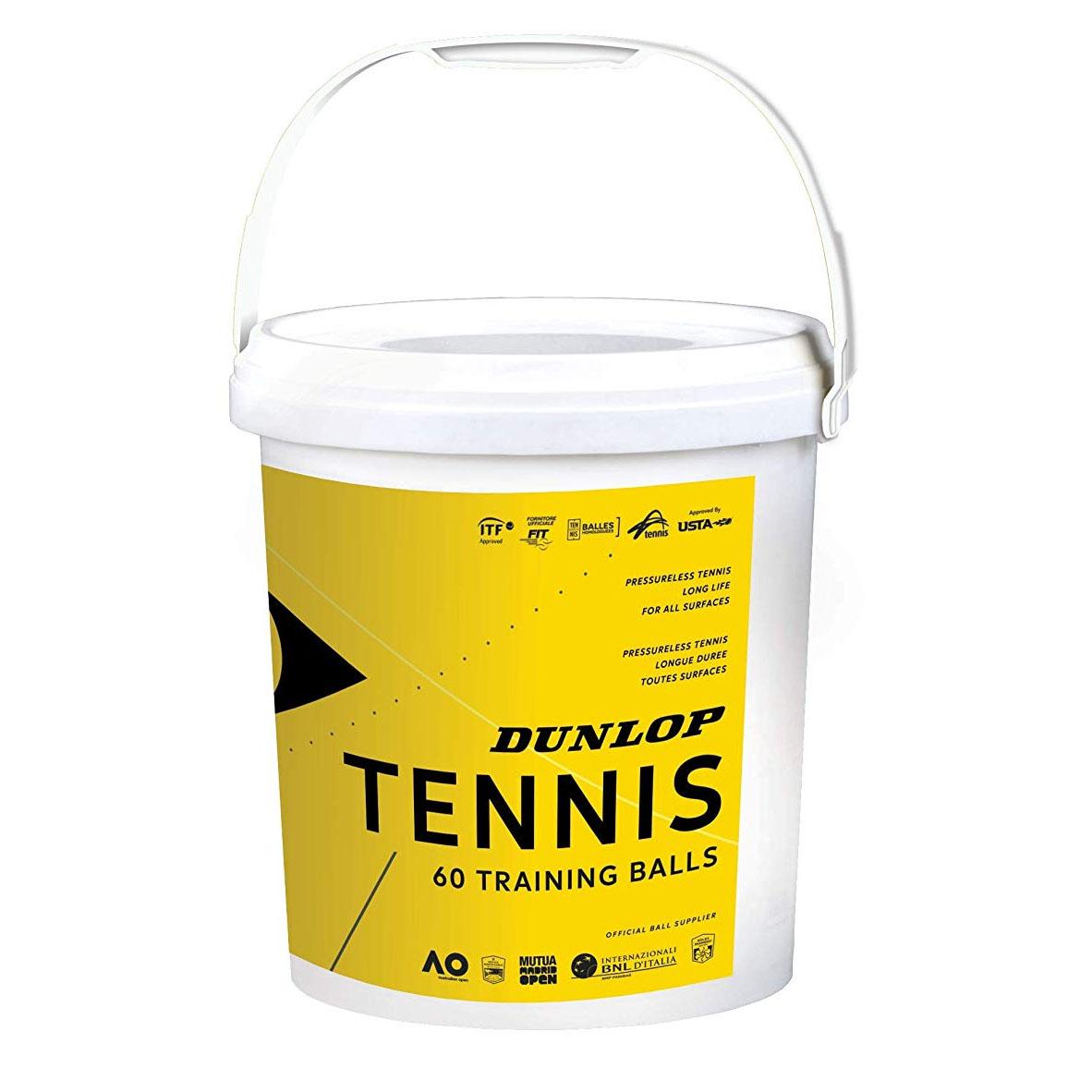 Image of Dunlop Training Tennis Bucket - 60 Balls