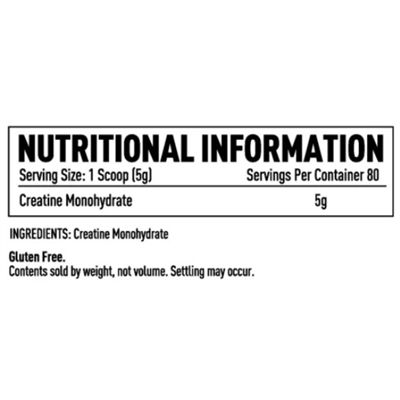 Efectiv Sports Nutrition 400g Creatine Monohydrate Powder - Tab