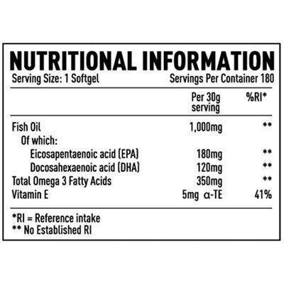 Efectiv Sports Nutrition Omega 3 Sport Caps - Pack of 180 - tab