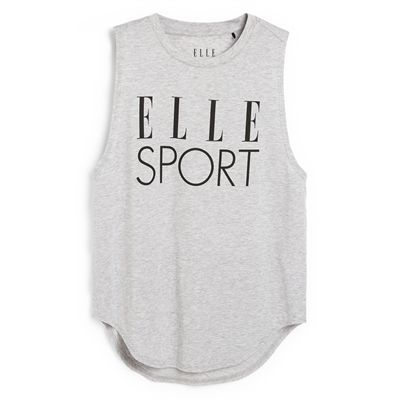 Elle Sport Signature Vest - Grey Back