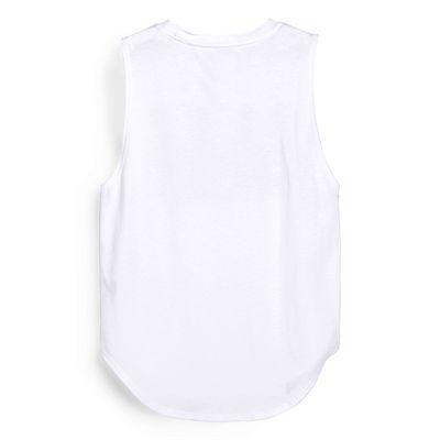 Elle Sport Signature Vest - White Back