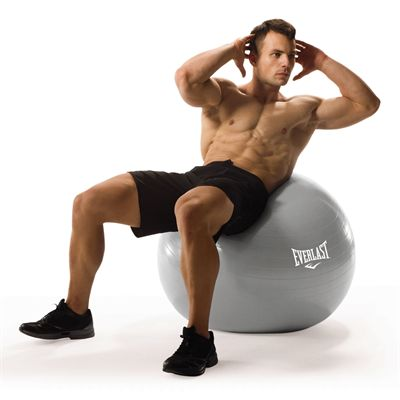 Everlast 65cm Burst Resistant Gym Ball - In Use