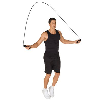 Everlast Weighted Skipping Rope In Use