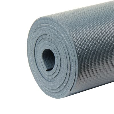 Exafit 4mm Yoga Mat - Grey - Zoomed