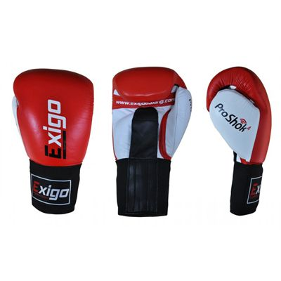 Exigo Boxing Amateur Leather Contest Gloves Red - Main Image