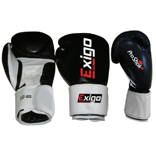 Exigo Boxing Club Pro Leather Sparring Gloves  Black 12oz