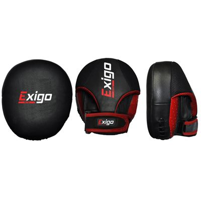 Exigo Boxing Pro Air Flat Hook and Jab Pads Front and Side View