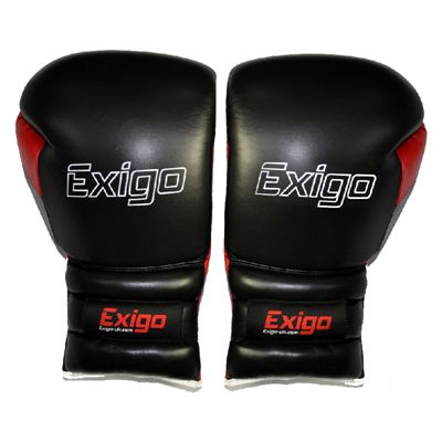 Exigo Boxing Ultimate Pro Leather Sparring Gloves - Pair View