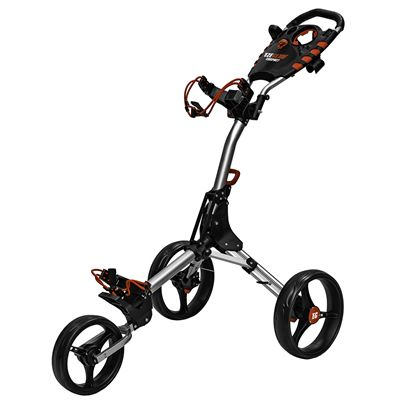 Eze Glide Compact Plus Golf Trolley - Silver FoldedEze Glide Compact Plus Golf Trolley - Silver Side