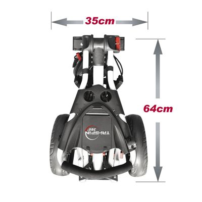 Eze Glide Compact Tri-Spin Golf Trolley Dimensions