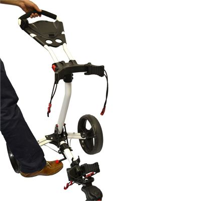 Eze Glide Compact Tri-Spin Golf Trolley Foot Operated Mechanism