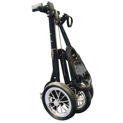 Eze Glide Tour Golf Trolley black folded