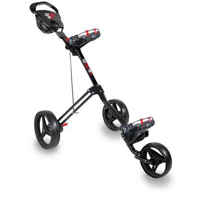 Eze Glide Tri Lite Golf Trolley - Grey/Red