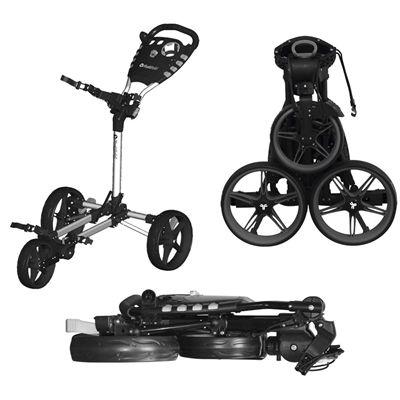 Fast Fold Flat Golf Trolley - Black - Presentation