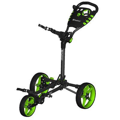 Fast Fold Flat Golf Trolley - Green