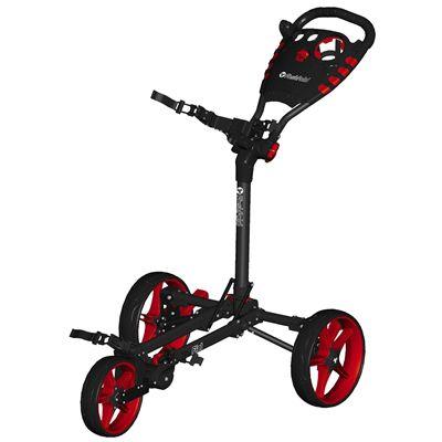 Fast Fold Flat Golf Trolley - Red