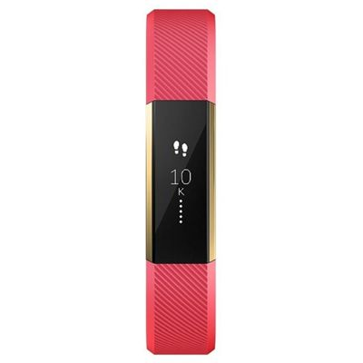 Fitbit Alta Gold-Plated Edition Large Fitness Tracker - Pink - Front