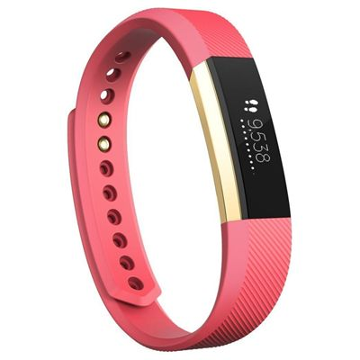 Fitbit Alta Gold-Plated Edition Large Fitness Tracker - Pink