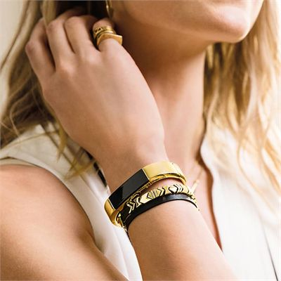 Fitbit Alta HR and Alta Gold-Plated Metal Bracelet - Lifestyle