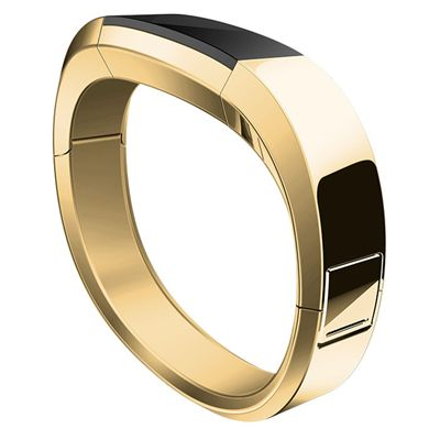 Fitbit Alta HR and Alta Gold-Plated Metal Bracelet - Side